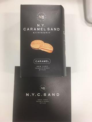N.Y.CARAMEL SANDのパッケージデザイン