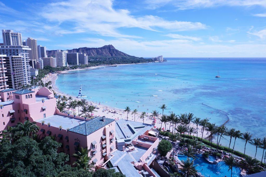 ハワイ新婚旅行 シェラトンワイキキプール
