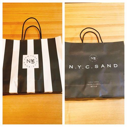 ニューヨークシティサンドのオシャレな紙袋