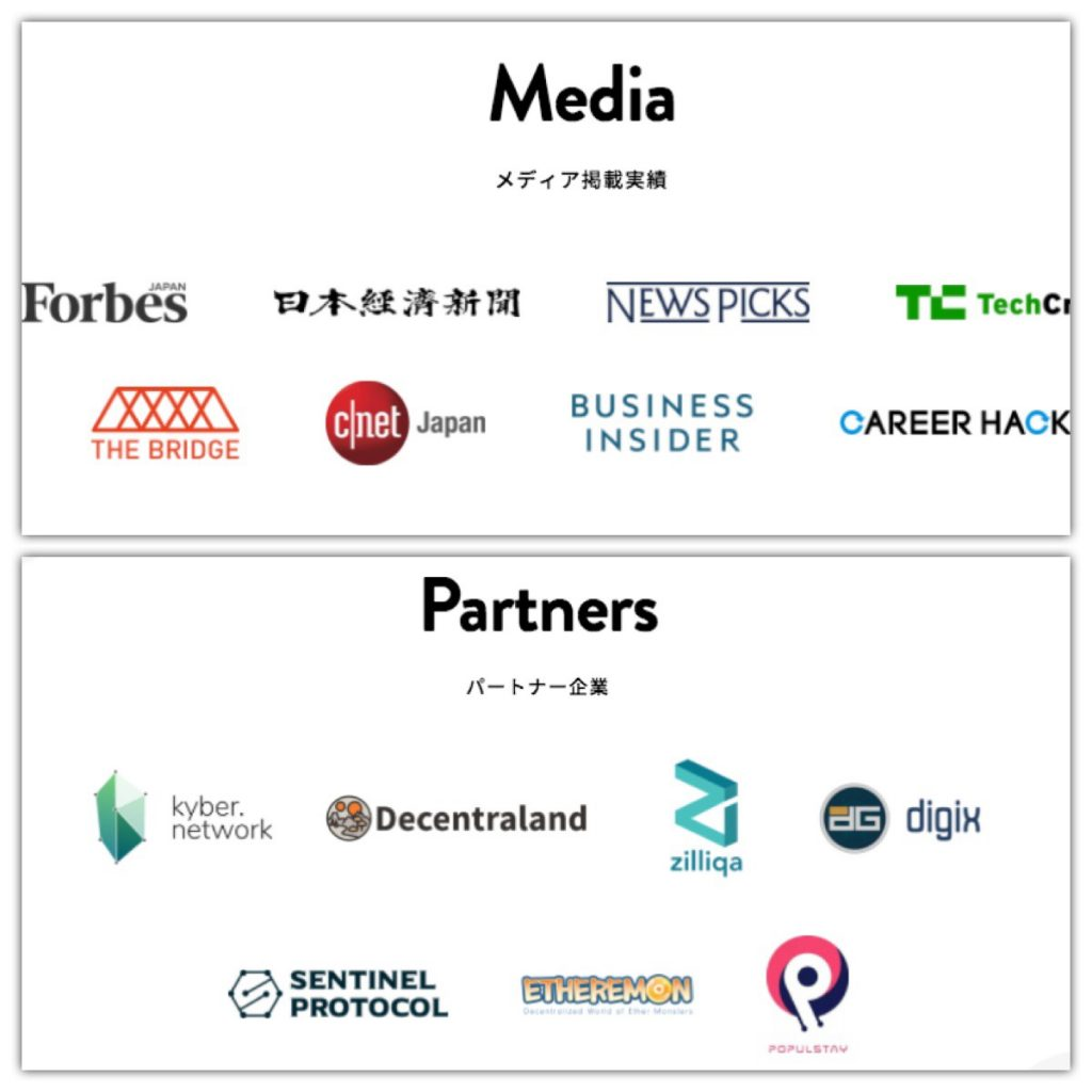 GINCOのパートナー企業とメディア