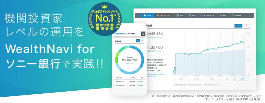 Wealthnavi for ソニー銀行のキャンペーン