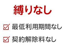楽天モバイル縛りなし(契約解除料・最低利用期間なし)
